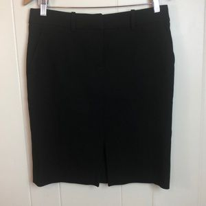Brooks Brothers Black Wool Silk Pencil Skirt